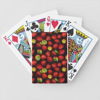 Wellcoda Strawberry Field Fruit Summer Fun Bicycle Playing Cards