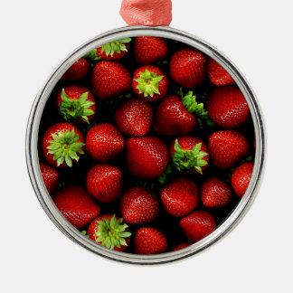 Wellcoda Strawberry Field Fruit Summer Fun Christmas Ornament