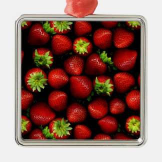Wellcoda Strawberry Field Fruit Summer Fun Christmas Ornament