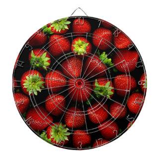 Wellcoda Strawberry Field Fruit Summer Fun Dartboard With Darts