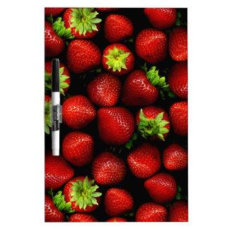 Wellcoda Strawberry Field Fruit Summer Fun Dry Erase Board