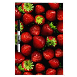 Wellcoda Strawberry Field Fruit Summer Fun Dry Erase Board