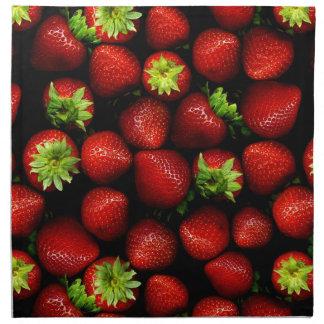 Wellcoda Strawberry Field Fruit Summer Fun Napkin