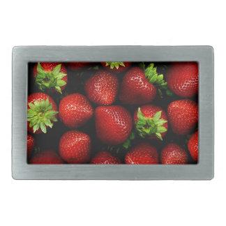 Wellcoda Strawberry Field Fruit Summer Fun Rectangular Belt Buckles