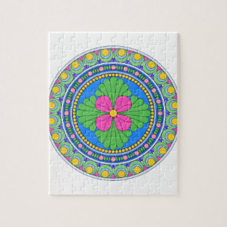 Wellcoda Style Indian Pattern Ornament Fun Jigsaw Puzzle
