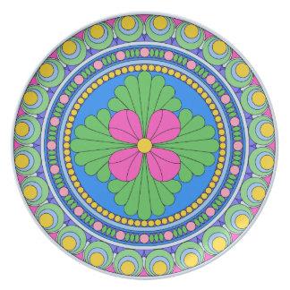 Wellcoda Style Indian Pattern Ornament Fun Plate