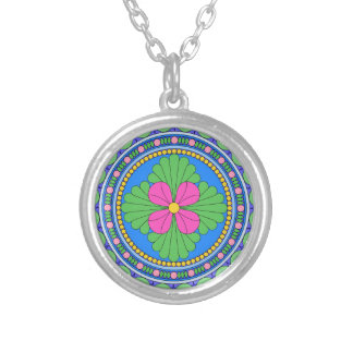 Wellcoda Style Indian Pattern Ornament Fun Silver Plated Necklace