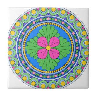 Wellcoda Style Indian Pattern Ornament Fun Small Square Tile