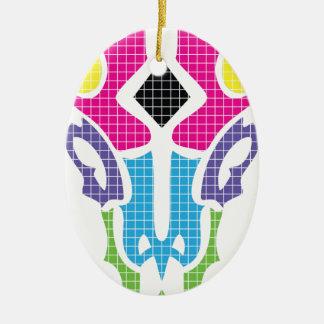 Wellcoda Summer Bull Run Head Epic Colour Ceramic Oval Decoration