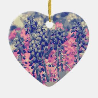 Wellcoda Summer Fields Forever Wild Bloom Ceramic Heart Decoration