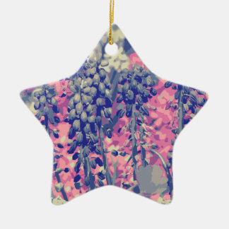 Wellcoda Summer Fields Forever Wild Bloom Ceramic Star Decoration