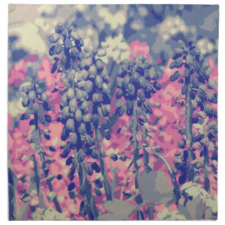 Wellcoda Summer Fields Forever Wild Bloom Cloth Napkins