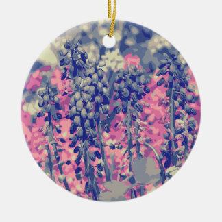 Wellcoda Summer Fields Forever Wild Bloom Round Ceramic Decoration
