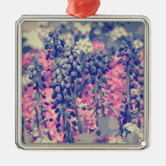 Wellcoda Summer Fields Forever Wild Bloom Silver-Colored Square Decoration