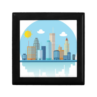 Wellcoda Sun City View Town Sydney Coast Small Square Gift Box