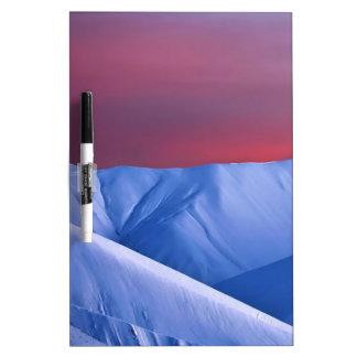 Wellcoda Sun Set Snow Mountain Ice Glacier Dry Erase Board