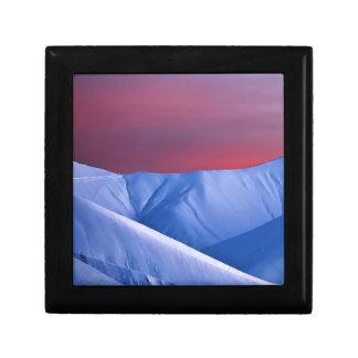Wellcoda Sun Set Snow Mountain Ice Glacier Gift Box