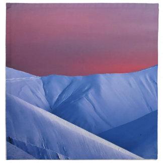 Wellcoda Sun Set Snow Mountain Ice Glacier Napkin