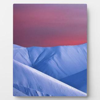 Wellcoda Sun Set Snow Mountain Ice Glacier Photo Plaque