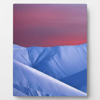 Wellcoda Sun Set Snow Mountain Ice Glacier Plaque
