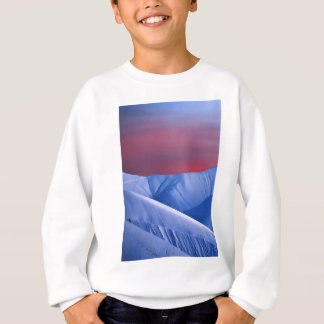 Wellcoda Sun Set Snow Mountain Ice Glacier Sweatshirt