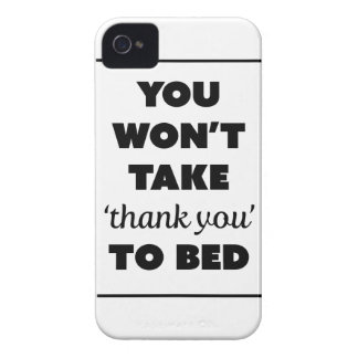 Wellcoda Thank You To Bed Joke Funny Life iPhone 4 Cover