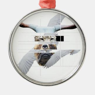 Wellcoda Tiger Bear Dog Face Weird Beast Christmas Ornament