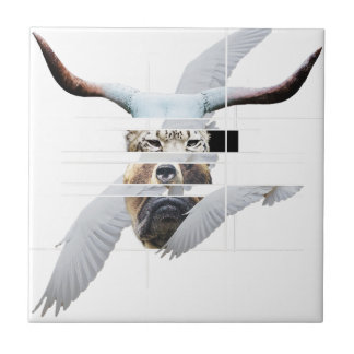 Wellcoda Tiger Bear Dog Face Weird Beast Tile