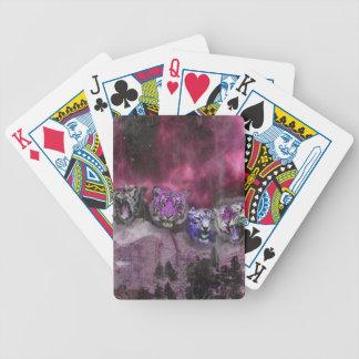 Wellcoda Tiger Head Wild Roar Wildcat Bicycle Playing Cards
