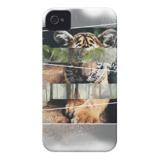 Wellcoda Tiger Lion Jungle Forest Animal iPhone 4 Case-Mate Case