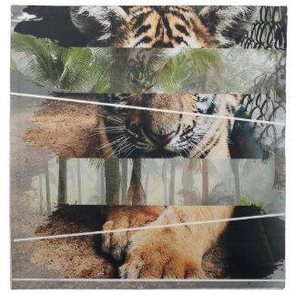Wellcoda Tiger Lion Jungle Forest Animal Napkin
