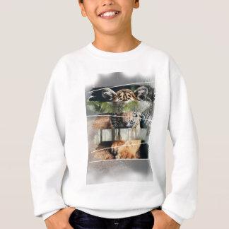 Wellcoda Tiger Lion Jungle Forest Animal Sweatshirt