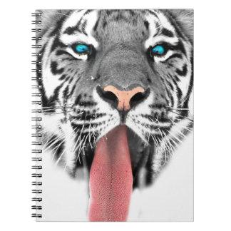 Wellcoda Tiger Tongue Lick Scary Animal Notebook