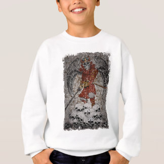 Wellcoda Tomb Stone Scary King Evil Grave Sweatshirt