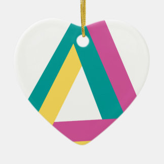 Wellcoda Triangle Drive Shape Summer Fun Ceramic Heart Decoration