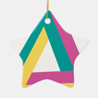 Wellcoda Triangle Drive Shape Summer Fun Ceramic Star Decoration