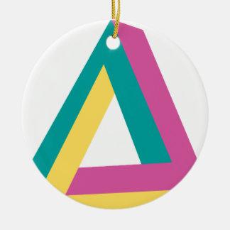 Wellcoda Triangle Drive Shape Summer Fun Christmas Ornament