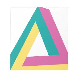 Wellcoda Triangle Drive Shape Summer Fun Notepad