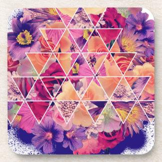 Wellcoda Triangle Flower Bloom Blossom Coaster