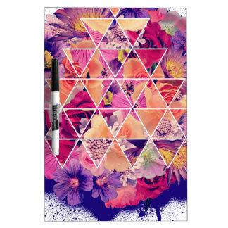 Wellcoda Triangle Shape Flower Paint Rose Dry Erase Board
