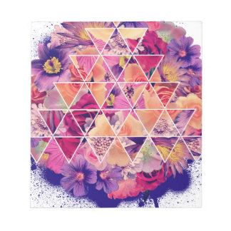 Wellcoda Triangle Shape Flower Paint Rose Notepad