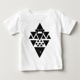 Wellcoda Triangle Star Night Sky Line Love Baby T-Shirt