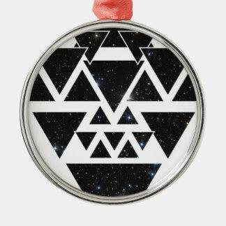 Wellcoda Triangle Star Night Sky Line Love Christmas Ornament
