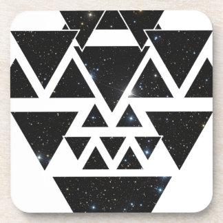 Wellcoda Triangle Star Night Sky Line Love Coaster
