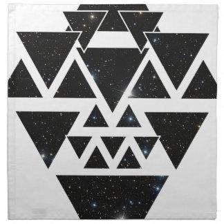 Wellcoda Triangle Star Night Sky Line Love Napkin