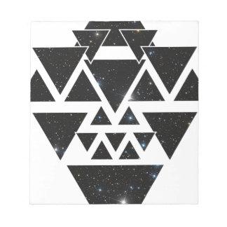Wellcoda Triangle Star Night Sky Line Love Notepad