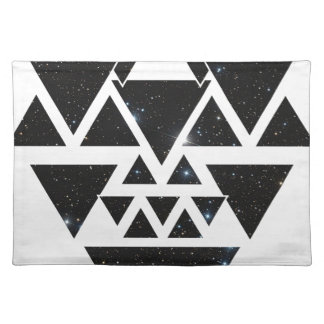 Wellcoda Triangle Star Night Sky Line Love Placemat