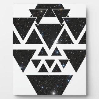 Wellcoda Triangle Star Night Sky Line Love Plaque