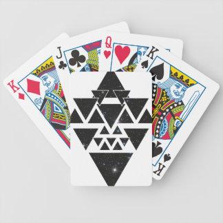 Wellcoda Triangle Star Night Sky Line Love Poker Deck
