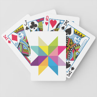 Wellcoda Triangle Star Shape Bright Comet Bicycle Playing Cards